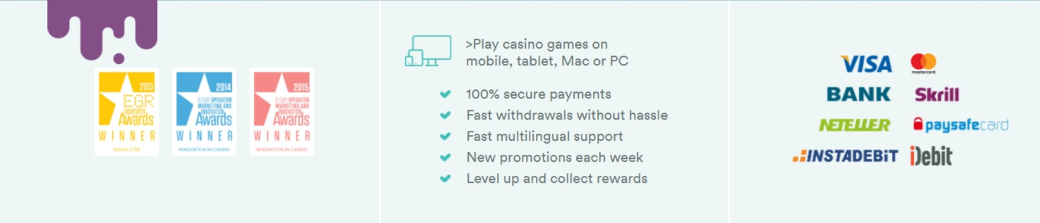 Casumo Payment Options