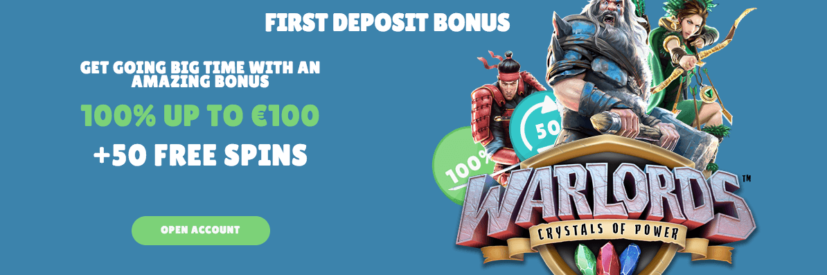 50 free spins warlords