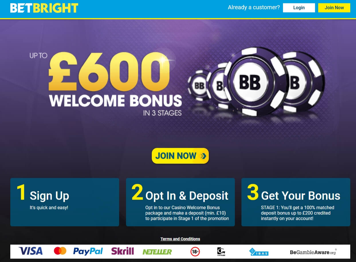Betbright Promo Code Offer