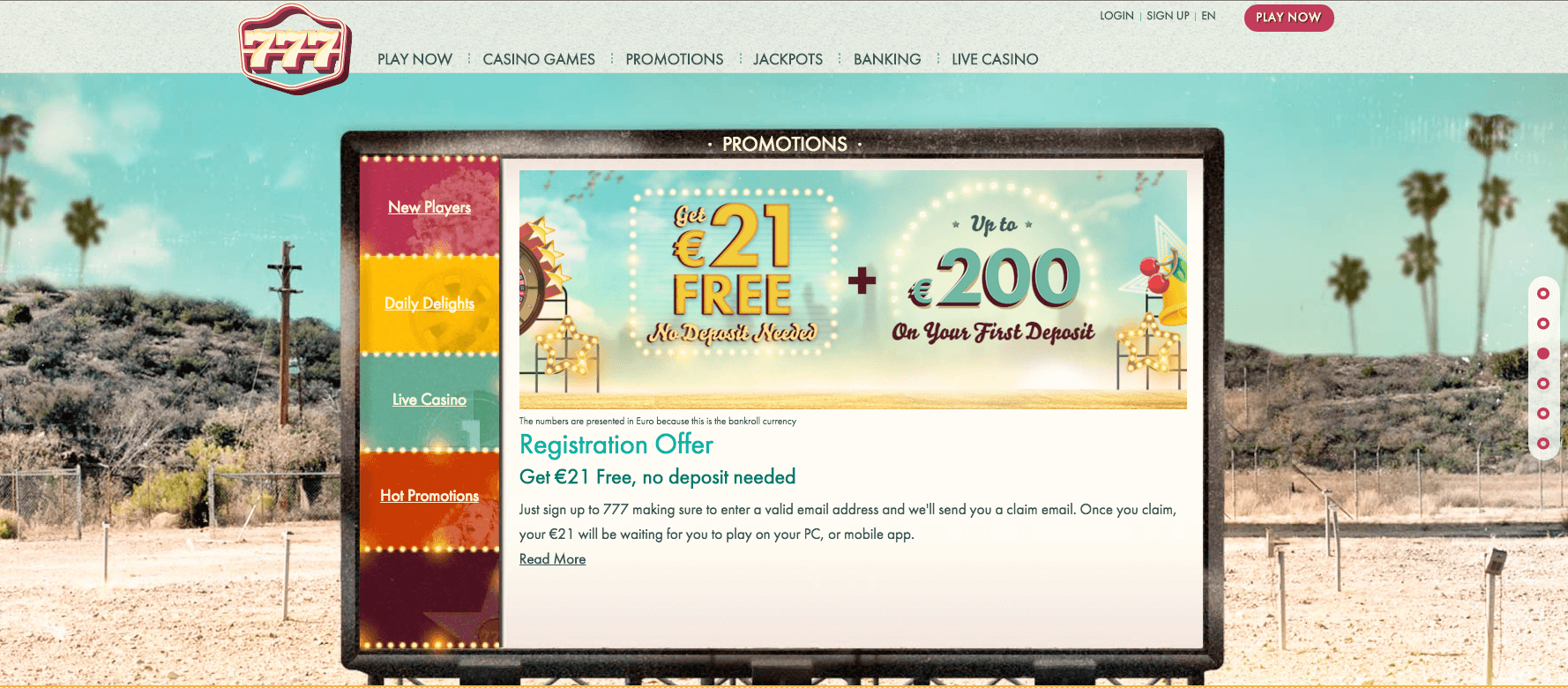 777 online casino UK