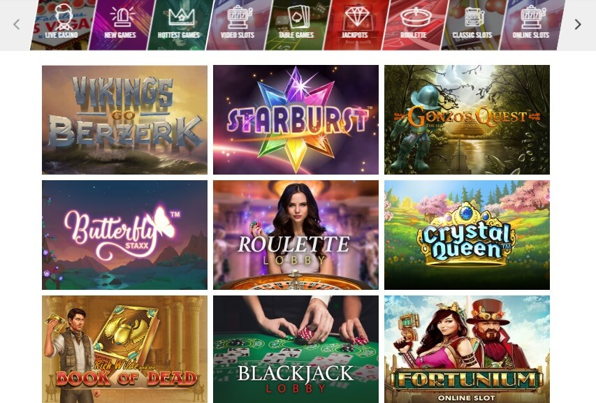 Vegas Hero Casino Games