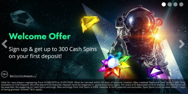 Volt Casino Welcome Offer