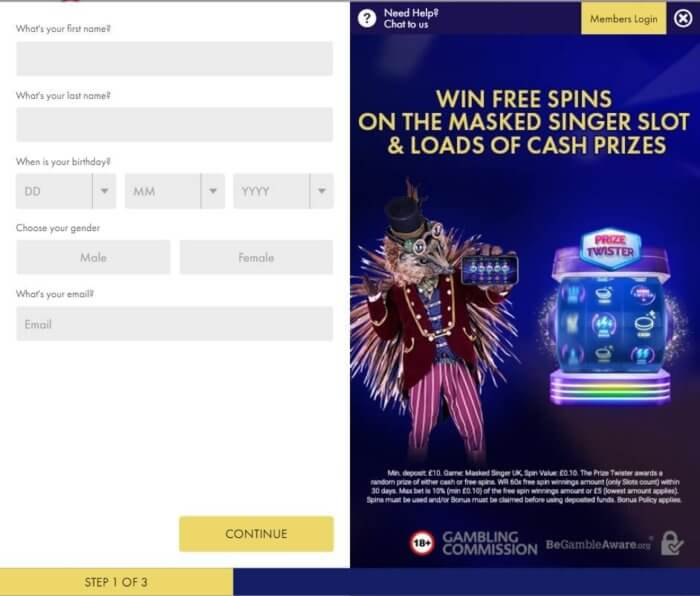 Masked Singer UK Registration